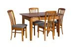 Ascot 1300 EXT Table Teak 4xReim Fabric Graphite