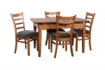 Ascot Ext Table 4 Mustang black pu Teak