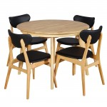 Belmont 1050 EXT Table Natural 4xFalkland PU Black