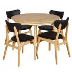 Belmont 1050 EXT Table Natural 4xFalkland PU Black