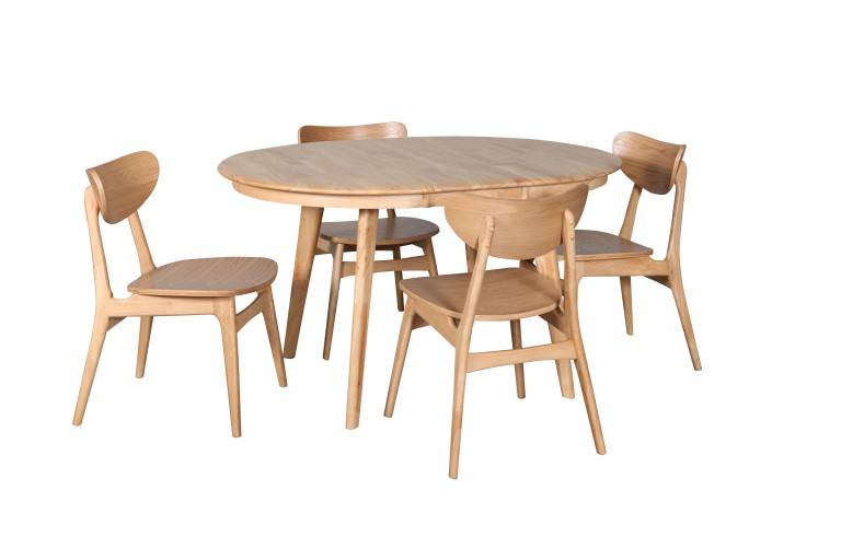 Belmont Ext Table  Open Finland Chair Nat