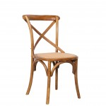 Crossback Chair Rattan Teak