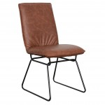 Detroit chair Saddle Black