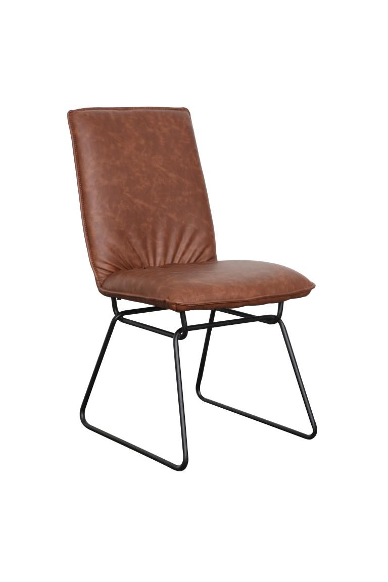 Detroit chair Saddle Black