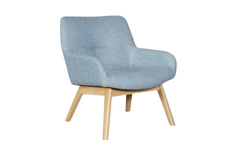 Fusion Accent Chair Natural Wash Fabric Azure