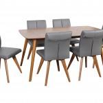 Gangnam 1600 table Hendricks Charcoal Teak