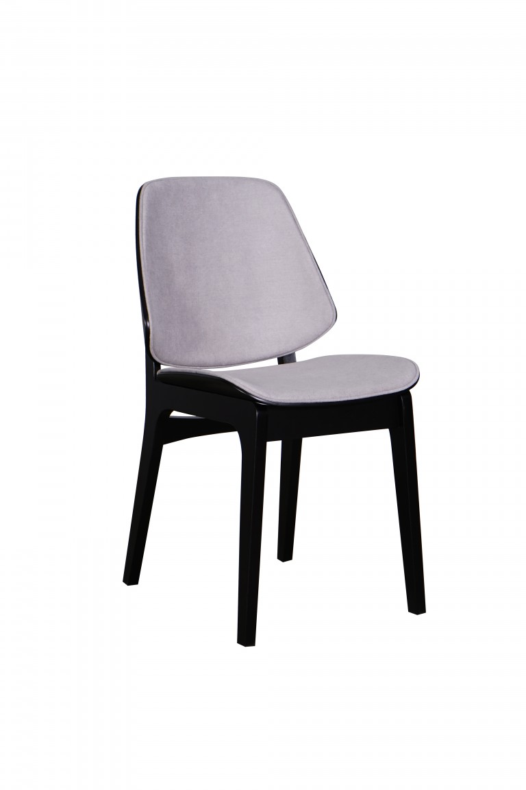 Lisbon Chair Black Fabric Pewter
