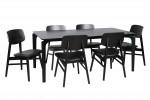 Nordic 1800 Black 6x Zurich Chairs Black PU  Black