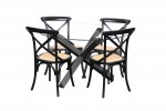 Sala Glass Table Crossback Black