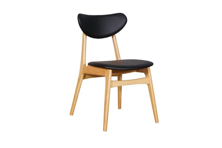 Falkland Chair UPH Back Black PU Nat