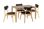 Nordic 1200x800 Nat Tbl 4xFalkland Chairs Black PU Nat