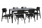 Nordic 1800 Black 6x Zurich Chairs Black PU  Black