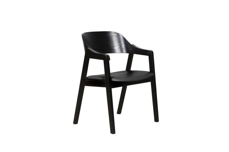 Norway Chair Black PU Black