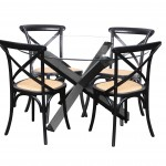 Sala Glass Table Crossback Black